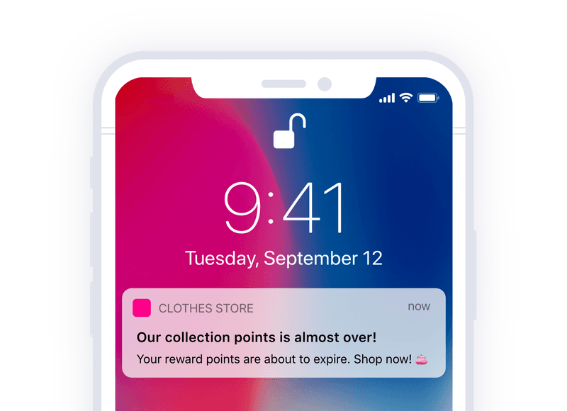 membership alert push notification template