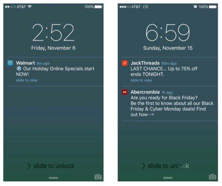 push notification templates
