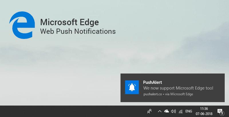 windows edge notification